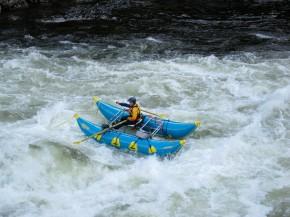 Dad rafting the Lochsa